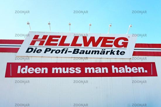 Logo Hellweg Baumarkt / logo Hellweg DIY market