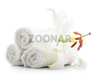 White towels