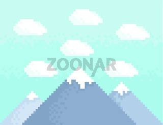 Mountain pixel art
