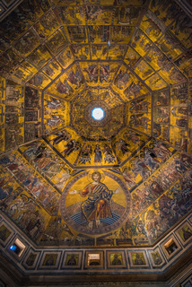 Magnificent mosaic ceiling of the Baptistry of San Giovanni, Florence, Tuscany, Italy