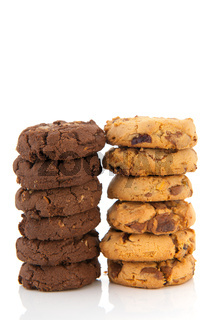 Chocolate and vanillia cookies