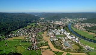 Luftaufnahme von Lohr am Main