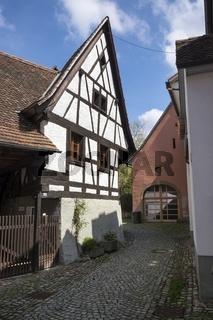 Historisches Fachwerkhaus in der Altstadt von Staufen