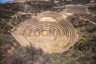Moray, an archaeological site near Cusco, Peru