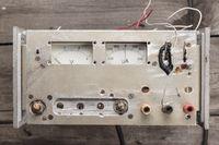 old analogue voltmeter and amperemeter