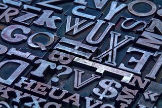 letterpress metal type abstract