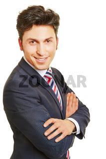 Lächelnder Geschäftsmann auf Bewerbungsfoto