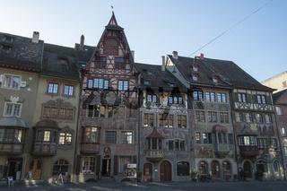 Historische Stadthäuser in der Altstadt von Stein am Rhein