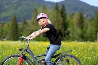 Fahrradfahren in der Natur