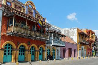 Bunte Häuser in Cartagena de Indias