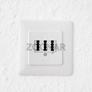 phone socket on wall