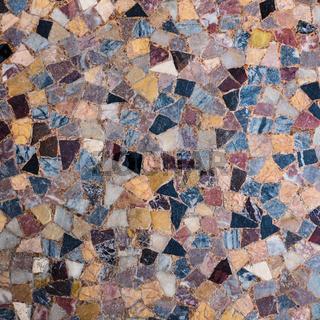 Mosaik aus bunten Steinen zur Nutzung als Hintergrund