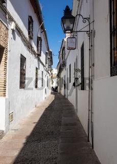 Narrow pathway in Cordoba street in Spain