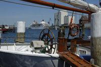Schiffe im Hafen von Flensburg