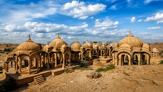 Bada Bagh cenotaphs in Jaisalmer, Rajasthan, India