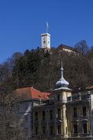 View towards Ljubljana Castle