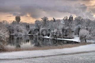 Spremberg Schloss Winter - Spremberg castle in winter 01