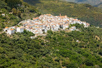 Andalusian village (Pueblos Blancos) in Sierra de las Nieves, Malaga, Spain