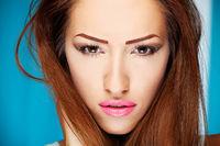 Make up on woman
