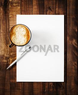 Blank paperwork mock-up