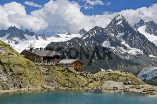 Berghütte Refuge du Lac Blanc, Chamonix,Frankreich