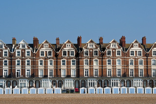 Victorian terraced houses in Bexhill, UK