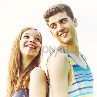 Zwei glückliche Teenager