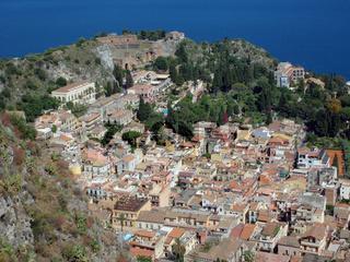 Sizilien, Taormina mit Griechischem Amphitheater