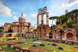 The Roman Forum, Italian Foro Romano in Rome, Italy
