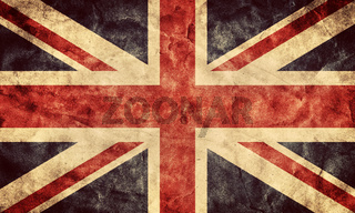 The United Kingdom or Union Jack grunge flag. Vintage
