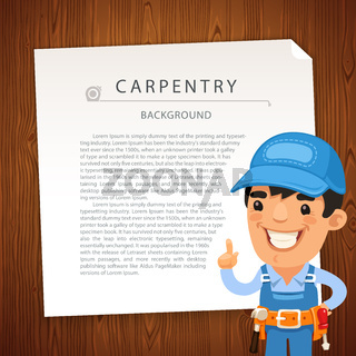 Carpentry Background with Workman