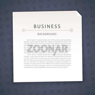 Dark Blue Business Background with Copy Space