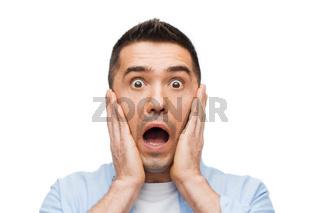 scared man shouting