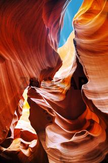 Lower Antelope Canyon view near Page, Arizona