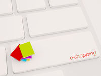 books e-shopping, online shopping concept,