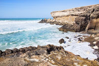La Pared beach on Fuerteventura south west coast