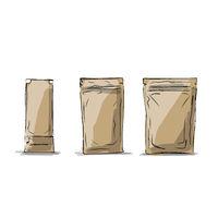 Bag packaging, sketch for your design