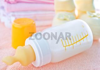 milk in bottle