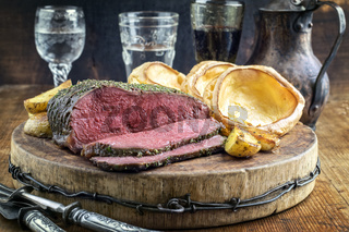 Roast Beef with Yorkshire Pudding