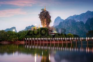 Amazing Buddhist Pagoda in Hpa-An, Myanmar