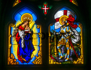 Stained glass window from Pena National Palace, Portugal