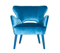 Blue textile modern chair isolated
