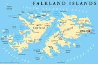 Falkland Inseln politische Landkarte