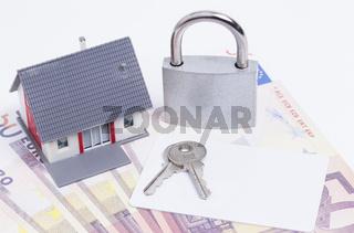 Haus Geld Karte Schloss