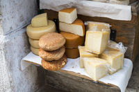 Selection of local cheeses