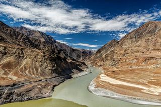 Confluence of Indus and Zanskar Rivers, Ladakh
