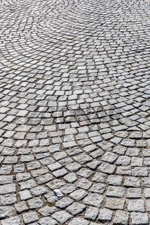 Pflastersteine in Fußgängerzone