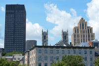 Glimpse of downtown Montreal