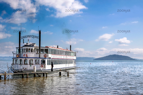 Paddle steamer on Lake Rotorua