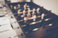 Blurred Foosball Table with vintage instagram style filter